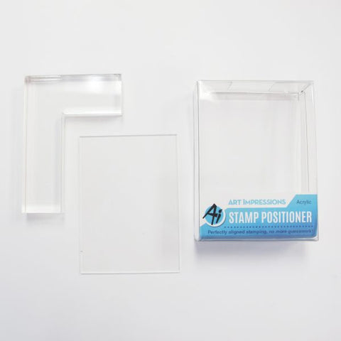 Art Impressions - Acrylic STAMP POSITIONER Set - 2pc *