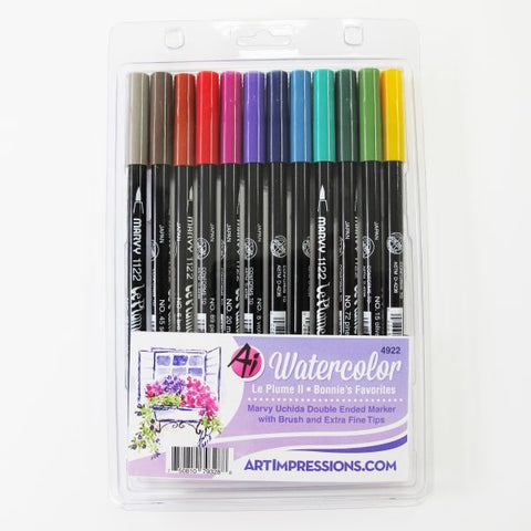 Art Impressions - Bonnies Favorites - Watercolor Pen Set 1