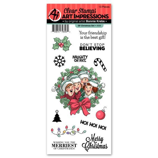 art impressions girlfriends gf christmas stamp set - Christmas Stamp