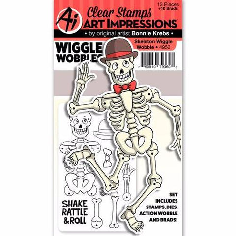 Art Impressions - WIGGLE WOBBLE Set - SKELETON