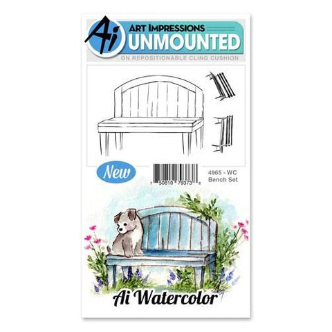 Art Impressions - Watercolor Cling Rubber Stamp Set - BENCH