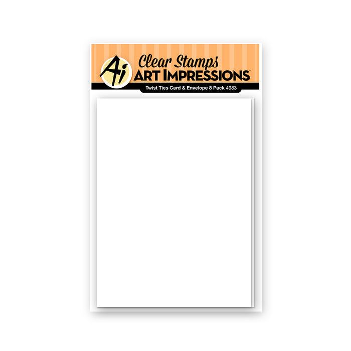 Art Impressions - Twist Ties Card & Envelope 8 Pack - 20% OFF!