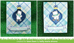 Lawn Fawn - BEARY HAPPY HOLIDAYS - Clear Stamps Set *