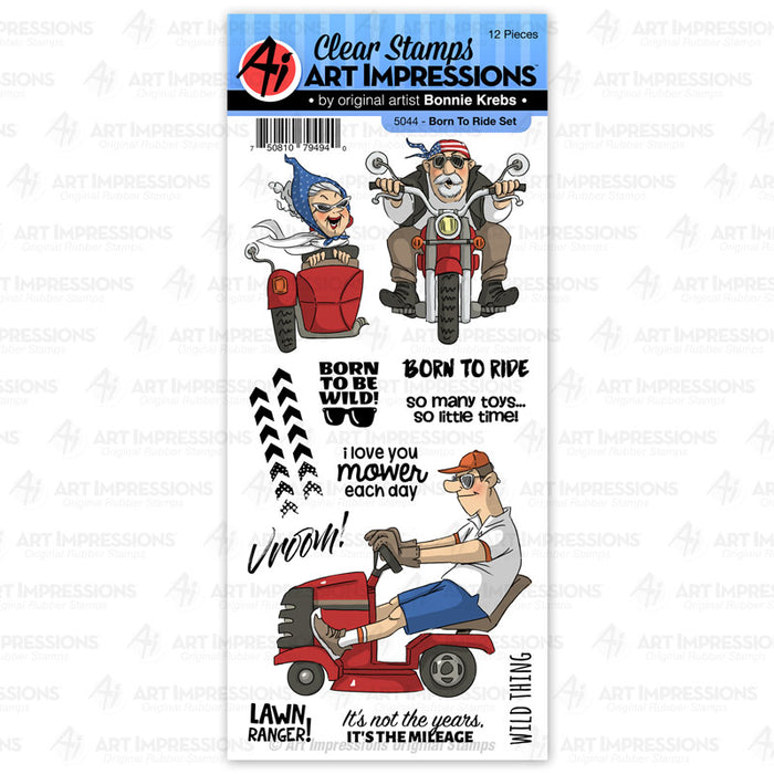 Art Impressions - BORN TO RIDE - Stamp Set