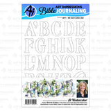 Art Impressions - SERIF LETTERS - Clear Stamp Set *