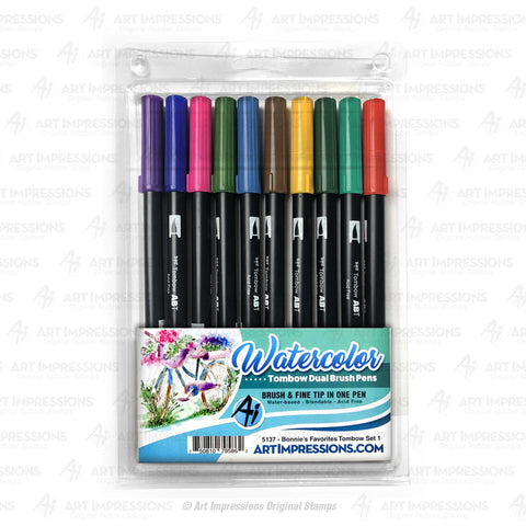 Art Impressions - BONNIES FAVORITES 1 Tombow Dual Brush Pen Set 10pk