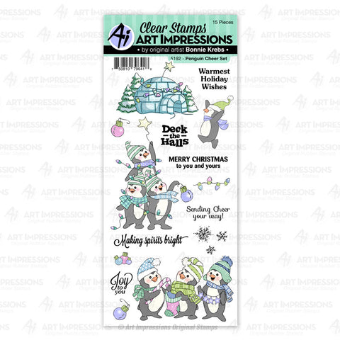 Art Impressions - PENGUIN CHEER - Stamp Set