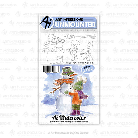Art Impressions - WINTER KIDS - Stamp Set