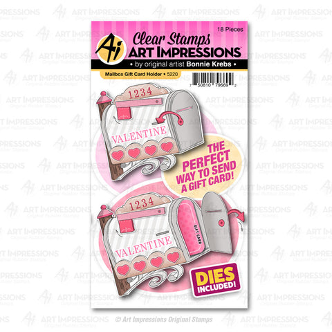 Art Impressions - MAILBOX GIFT CARD HOLDER - Stamp and Die Set