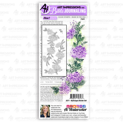 Art Impressions - HYDRANGEA Border - Stamp Set