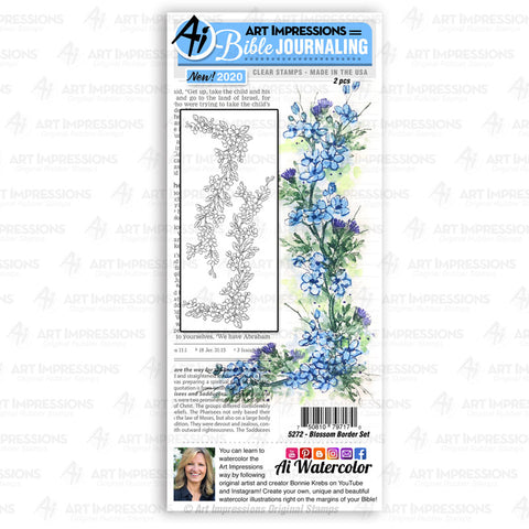 Art Impressions - BLOSSOM Border - Stamp Set