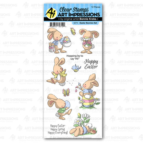 Art Impressions - EASTER BUNNIES - Stamp Set