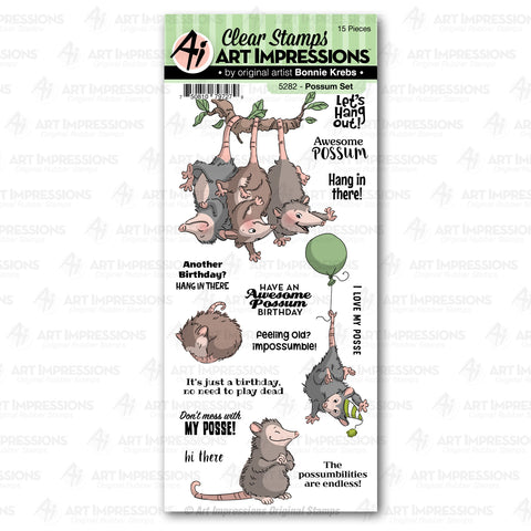 Art Impressions - POSSUM - Stamp Set