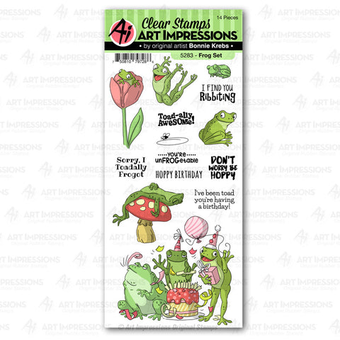 Art Impressions - FROG - Stamp Set