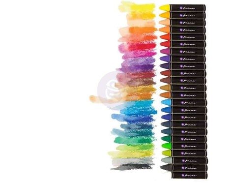 Prima - Artist Quality OIL PASTEL CRAYONS 24pc Set - Hallmark Scrapbook - 1