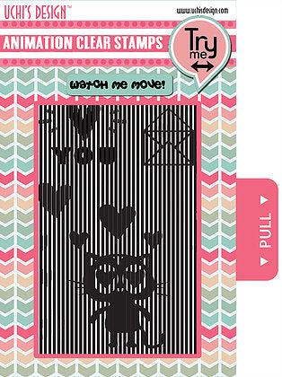Uchi's Design - Animation Clear Stamp Set - LOVING CAT