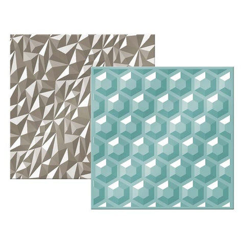 "We-R Memory Keepers - Next Level Embossing Folder - GEMSTONE 6""X6"" 2/PKG - Hallmark Scrapbook"