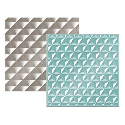 "We-R Memory Keepers - Next Level Embossing Folder - GEOMETRIC 6""X6"" 2/PKG - Hallmark Scrapbook"
