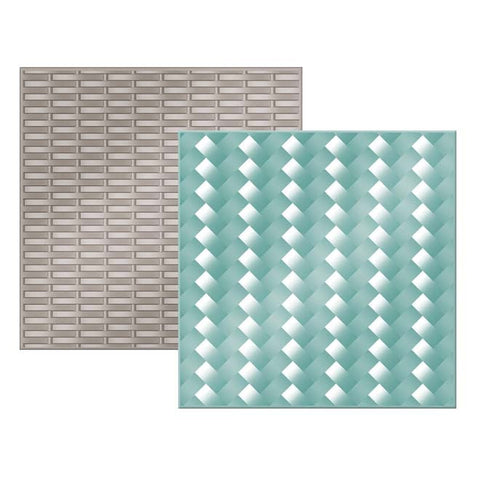 "We-R Memory Keepers - Next Level Embossing Folder - WOVEN 6""X6"" 2/PKG - Hallmark Scrapbook"