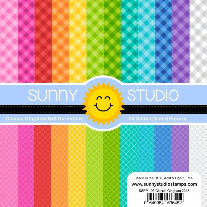 Sunny Studio - CLASSIC GINGHAM - 24 Double Sided Sheets 6x6
