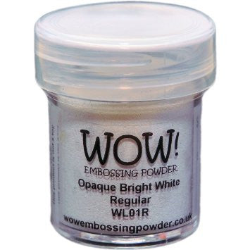 WOW! - Opaque BRIGHT WHITE Embossing Powder Regular