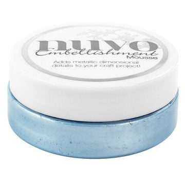 Nuvo Embellishment MOUSSE - CORNFLOWER BLUE - By Tonic Studio - Hallmark Scrapbook - 1