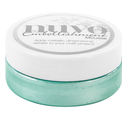 Nuvo Embellishment MOUSSE - AQUAMARINE - By Tonic Studio - Hallmark Scrapbook - 1