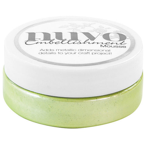 Nuvo Embellishment MOUSSE - SPRING GREEN - By Tonic Studio - Hallmark Scrapbook - 1