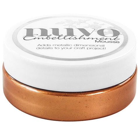 Nuvo Embellishment MOUSSE - FRESH COPPER - By Tonic Studio - Hallmark Scrapbook - 1