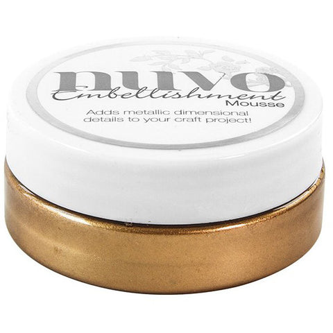 Nuvo Embellishment MOUSSE - COSMIC BROWN - By Tonic Studio - Hallmark Scrapbook - 1