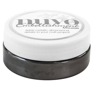 Nuvo Embellishment MOUSSE - BLACK ASH - By Tonic Studio - Hallmark Scrapbook - 1