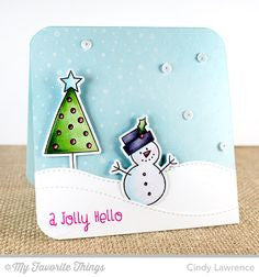 "My Favorite Things - SNOWFALL Background Cling Rubber Stamp 6""X6"" - Hallmark Scrapbook - 4"