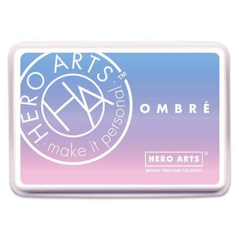 Hero Arts Ombre Ink Pad - DOLPHIN - Blue, Purple, Pink