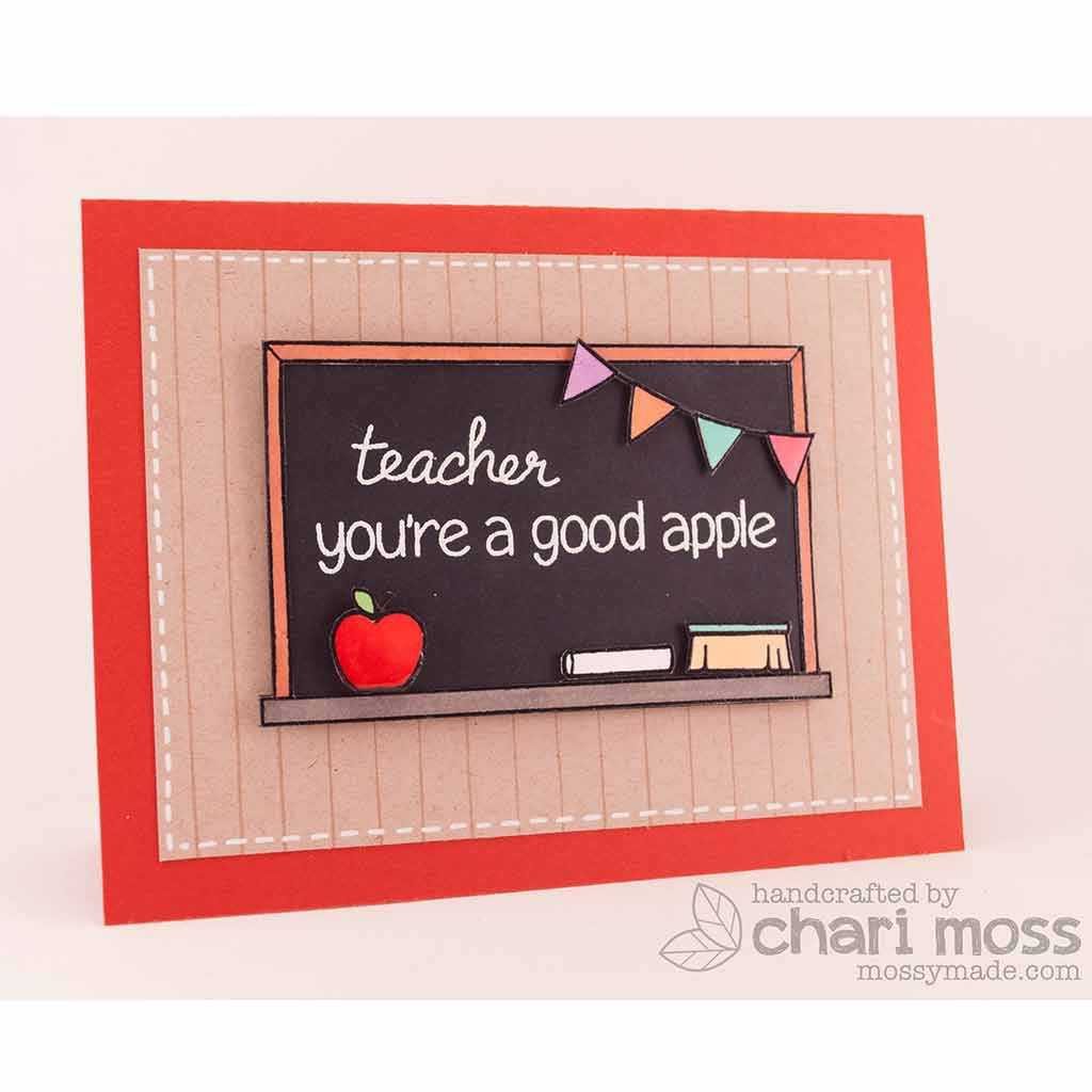 How to scrapbook good -  Lawn Fawn A Good Apple Clear Stamps 13pc Hallmark Scrapbook 5