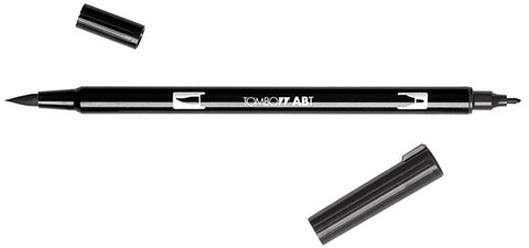 Tombow Dual Brush BLACK Pen N15 - Hallmark Scrapbook
