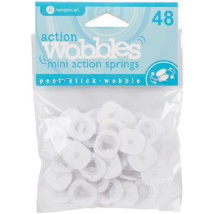 Action Wobble - ACTION MINI WOBBLE SPRINGS 48/Pkg - Hallmark Scrapbook - 1