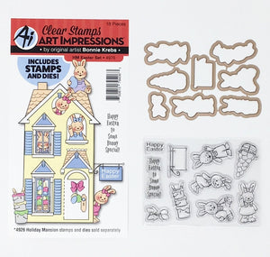 Art Impressions - Holiday Mansion Accessories EASTER SET - 18 pc - Stamp & Die Set