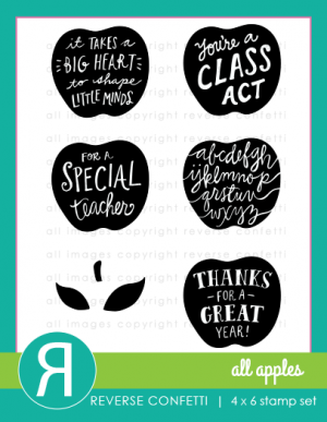 Reverse Confetti - ALL APPLES - Stamp Set