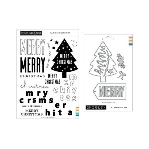 Concord & 9th - ALL THE MERRYS - Stamps & Dies BUNDLE Set