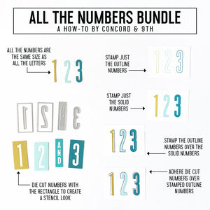 Concord & 9th - ALL THE NUMBERS - Stamps Set