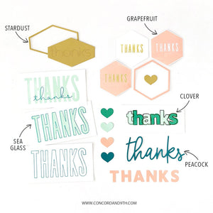 Concord & 9th - ALL THE THANKS - Stamps and Dies BUNDLE Set