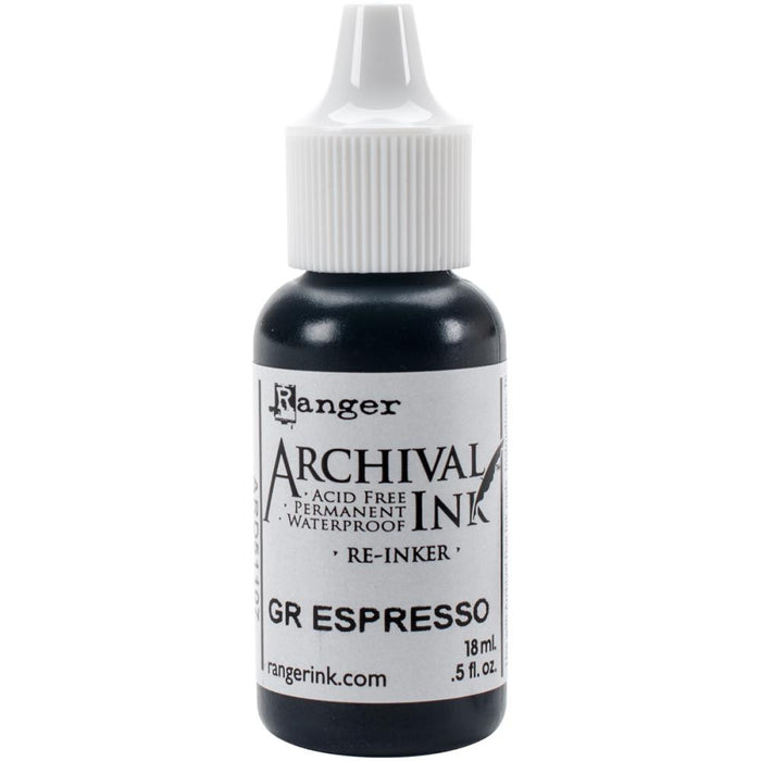 Tim Holtz Ranger - Designer Series Archival Ink  - GROUND ESPRESSO REINKER