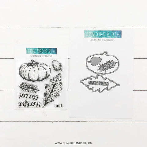 Concord & 9th - AUTUMN HARVEST - Stamps and Dies BUNDLE Set - 28% OFF!*
