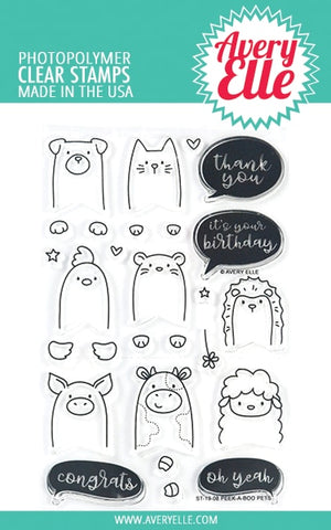 Avery Elle - PEEK-A-BOO PETS - Clear Stamp Set