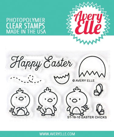 Avery Elle - EASTER CHICKS - Clear Stamp Set