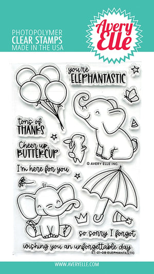 Avery Elle - ELEPHANTASTIC - Stamps Set
