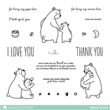 Mama Elephant - BEAR HUGS - Clear Stamps Set