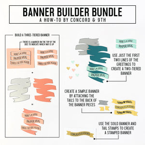 Concord & 9th - BANNER BUILDER - Die Set
