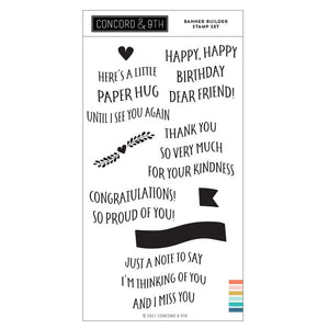 Concord & 9th - BANNER BUILDER - Stamp Set