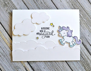 Avery Elle - BE A UNICORN Clear Stamp Set  - 14 pc - Hallmark Scrapbook - 3